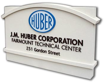 outdoor business monument sign