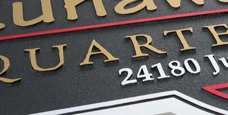 custom sandblasted signs