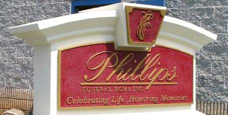 funeral home monument sign