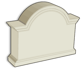standard stucco sign monument model 18